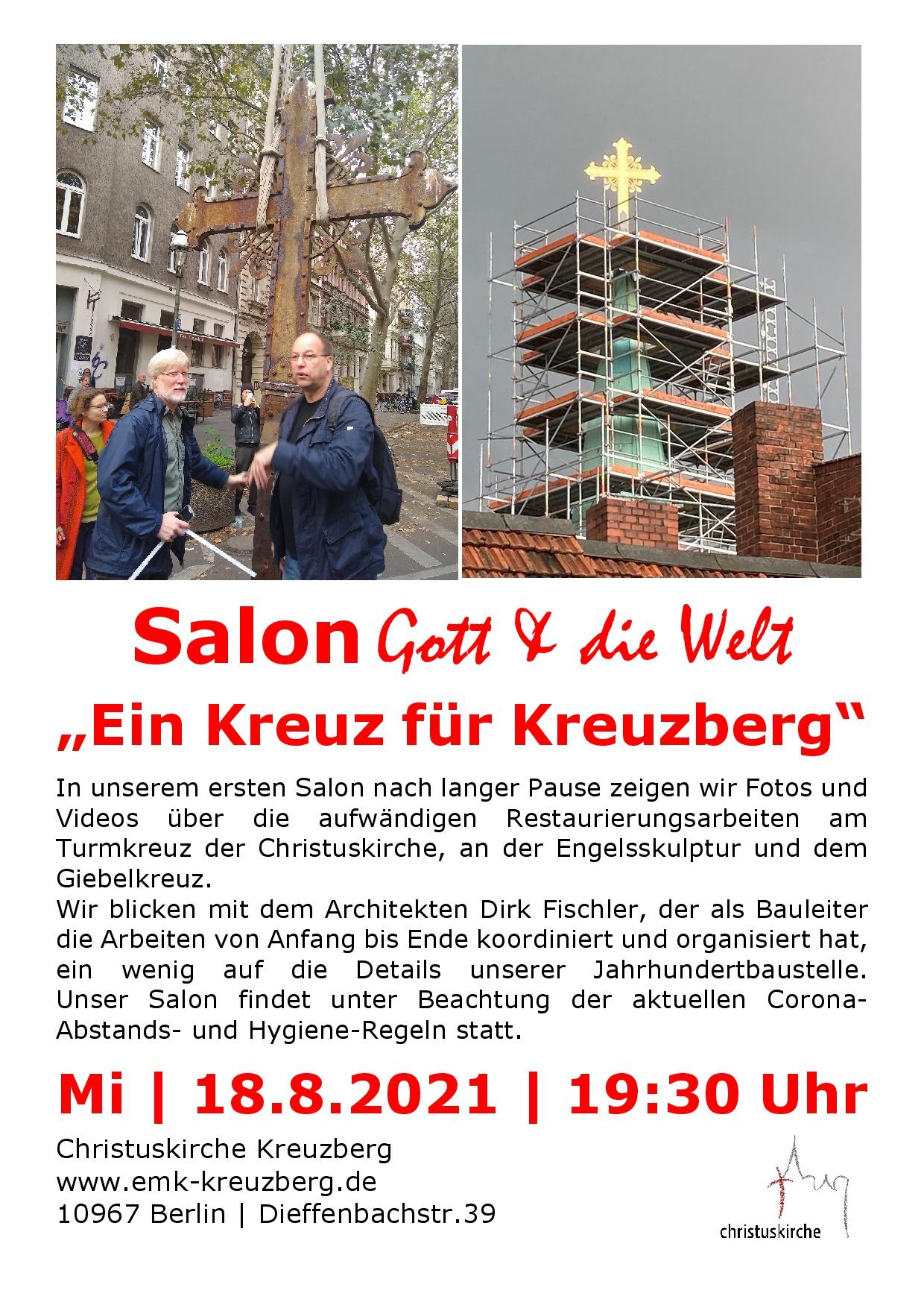 18. August, 19.30 Salon Gott & die Welt
