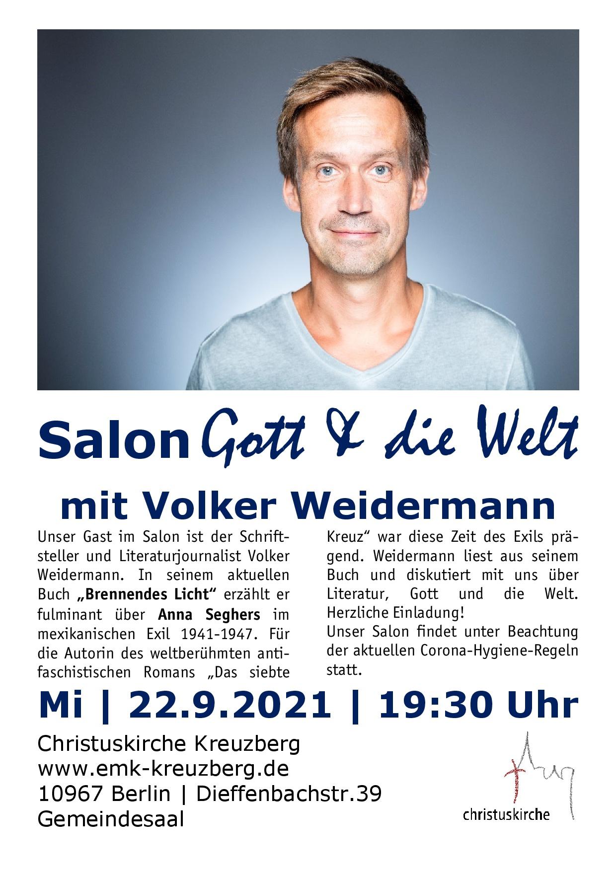Salon Gott&die Welt | 22.9.2021 um 19:30 Uhr