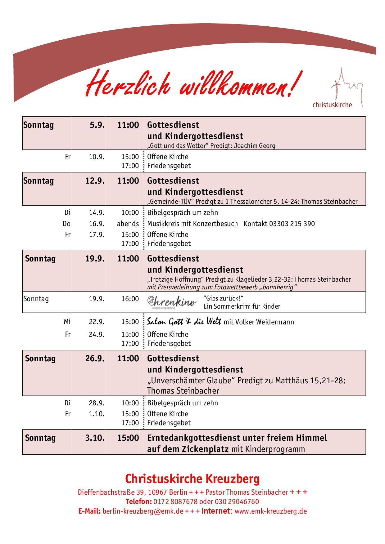 Gemeindekalender 9-2021
